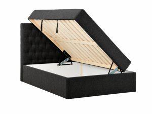 BOXBED 140 oppbevaringsseng svart