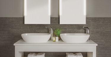 speil med integrert lys