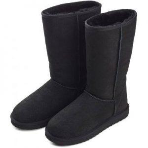 Boots lammeskinn svart
