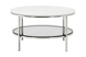 Sandy rundt stuebord – glass og marmor i full harmoni